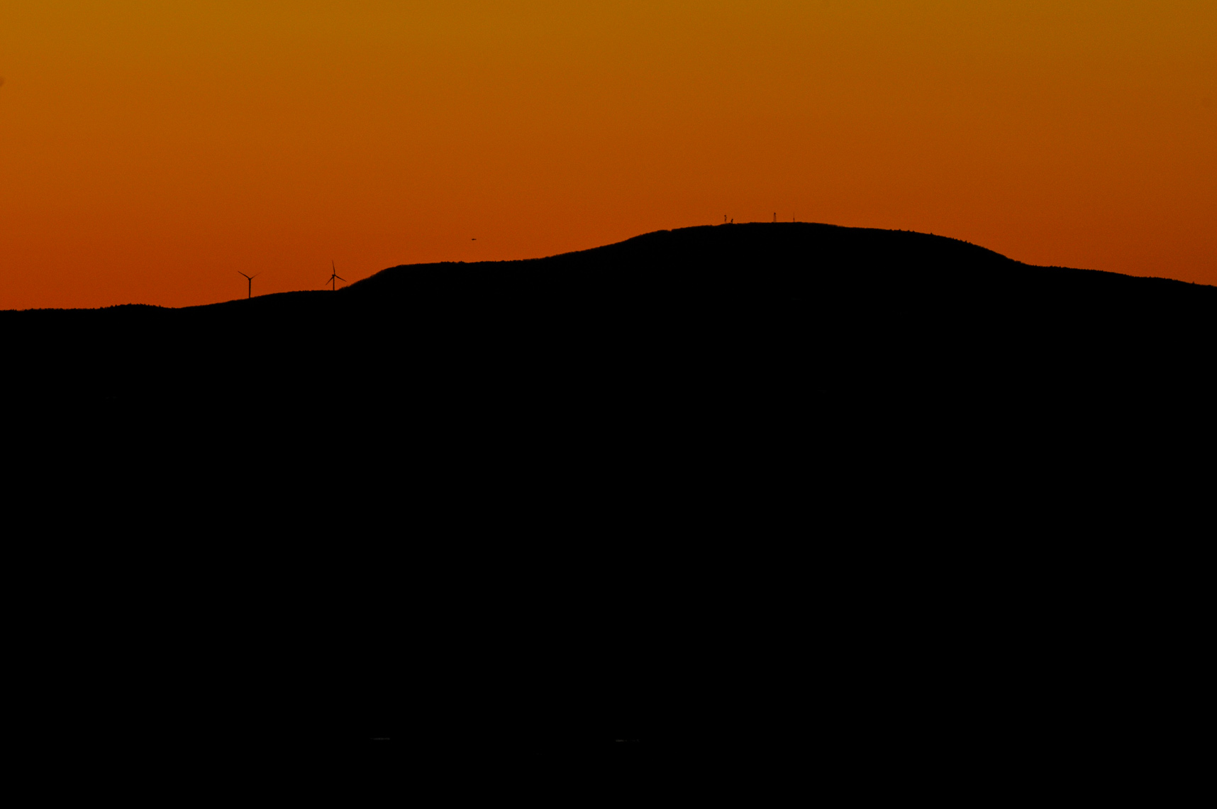 Wachusett Mountain at Sunset | Photo created from the Fruitlands Museum in Harvard, MA