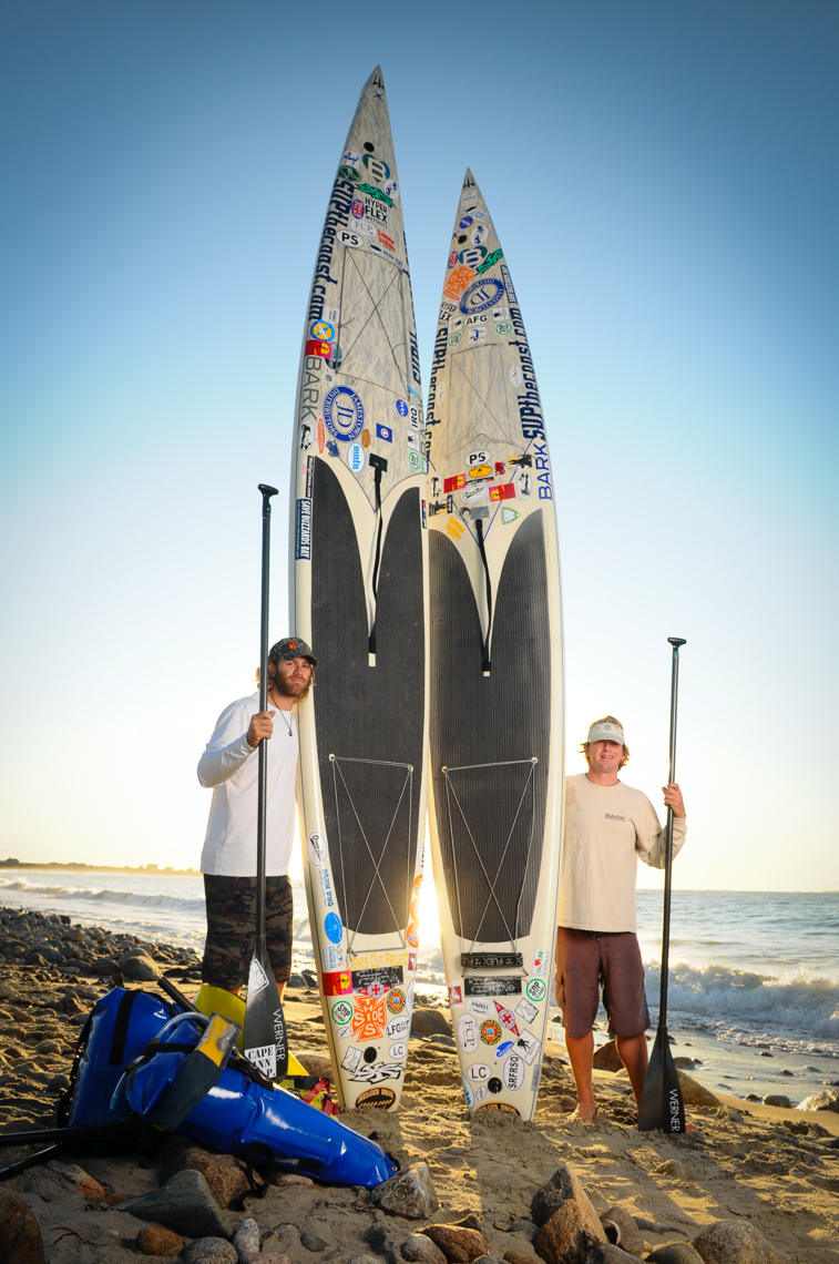 Environmental Portrait | Stand Up Paddlers Simpson and Rich