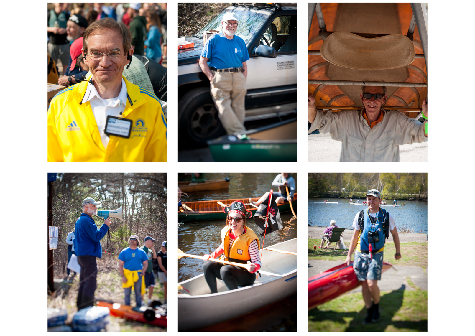 Run of the Charles Regatta Portraits for Canoe & Kayak Magazine