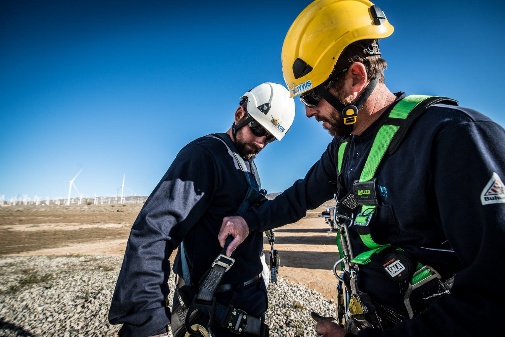 Wind Energy Safety | Renewable Energy Construction Photography