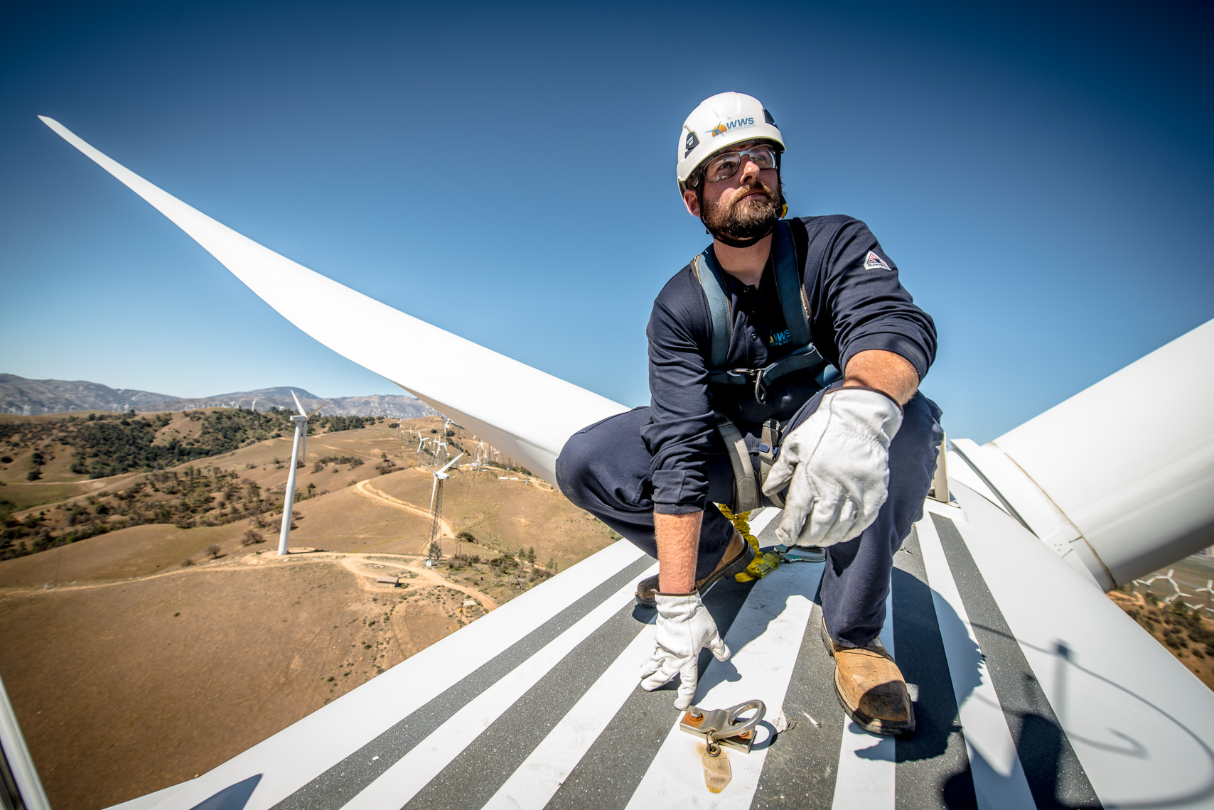 Renewable Energy Construction | Wind Turbine Technician | Clean Energy Photography