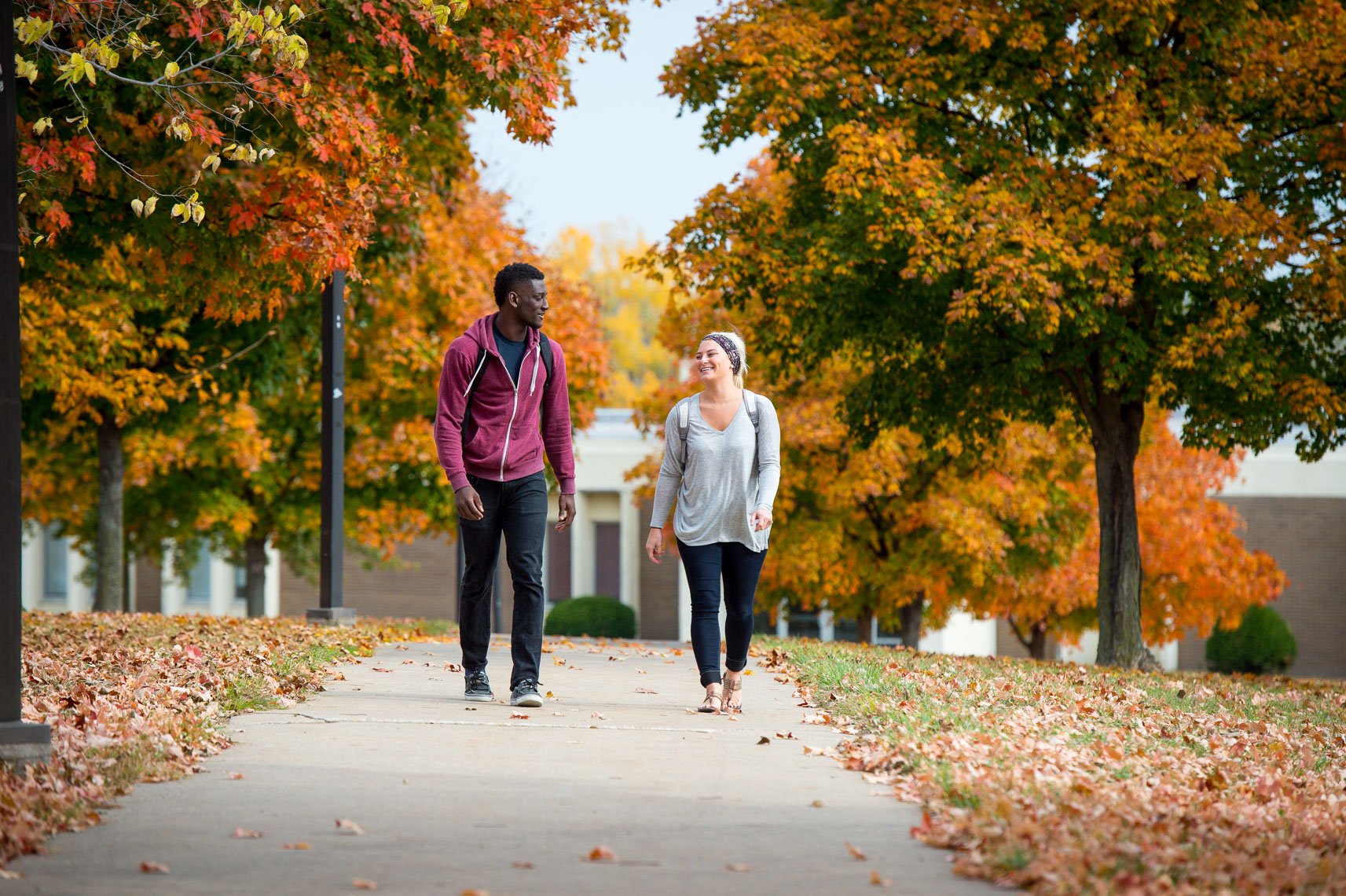 Authentic Admissions Marketing Photographs | Autumn in the Midwest