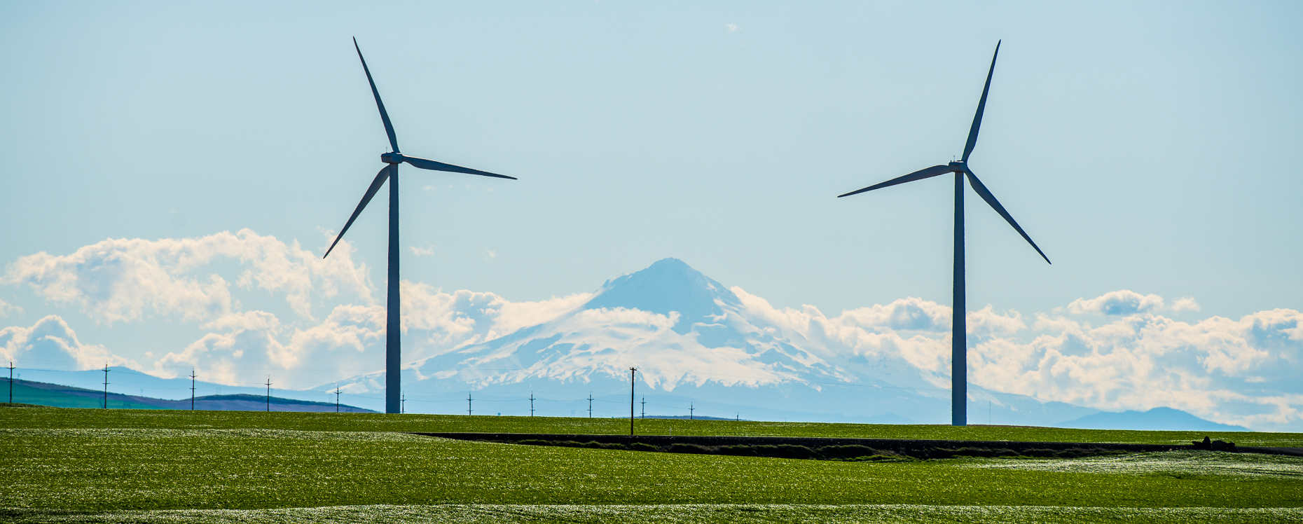 Mt. Hood | Clean Energy Construction Photography | Wind Energy in the Landscape