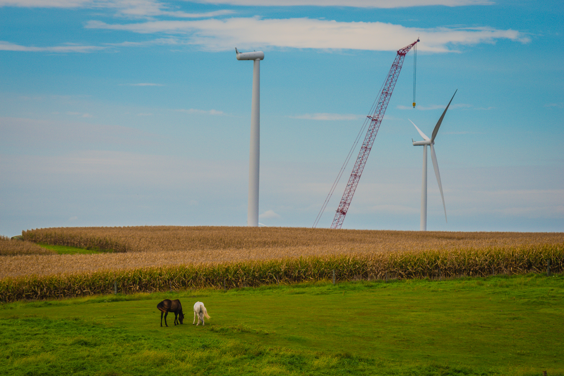 Renewable Energy Construction Photography | Iowa