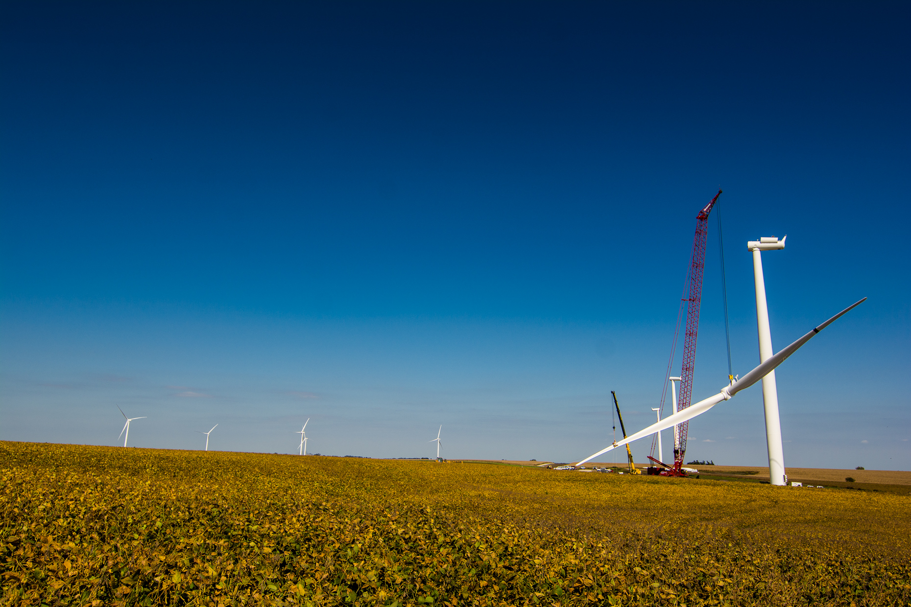 Renewable Energy Construction Photography | Iowa Wind Farm Photographer