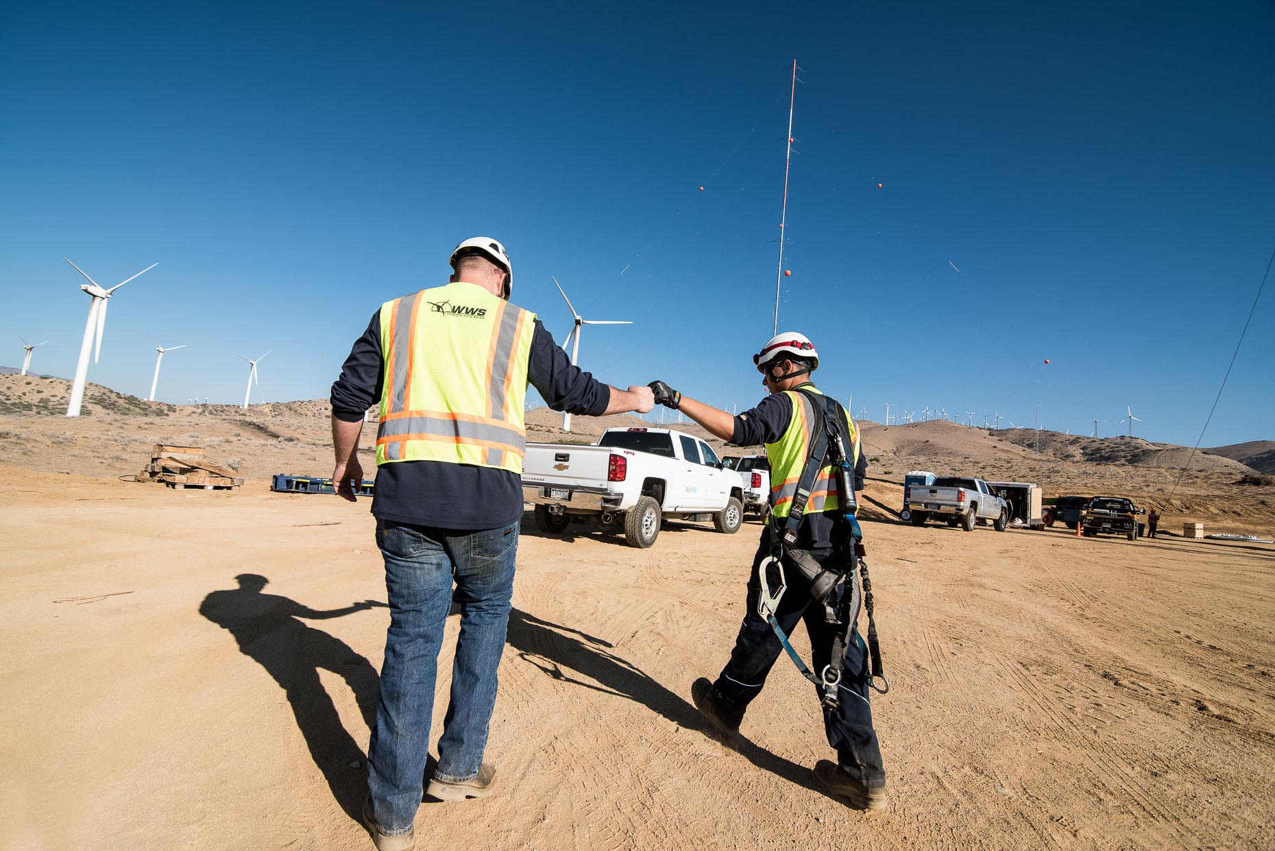 Wind Energy Construction Photographer Southern California Flat