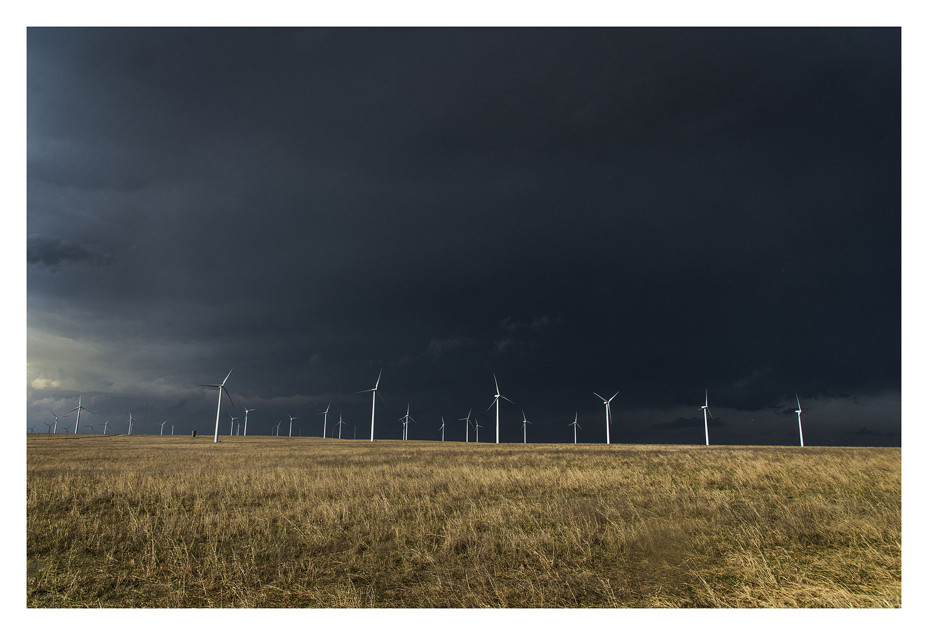 Wind Energy Constuction Photography KansasS torm