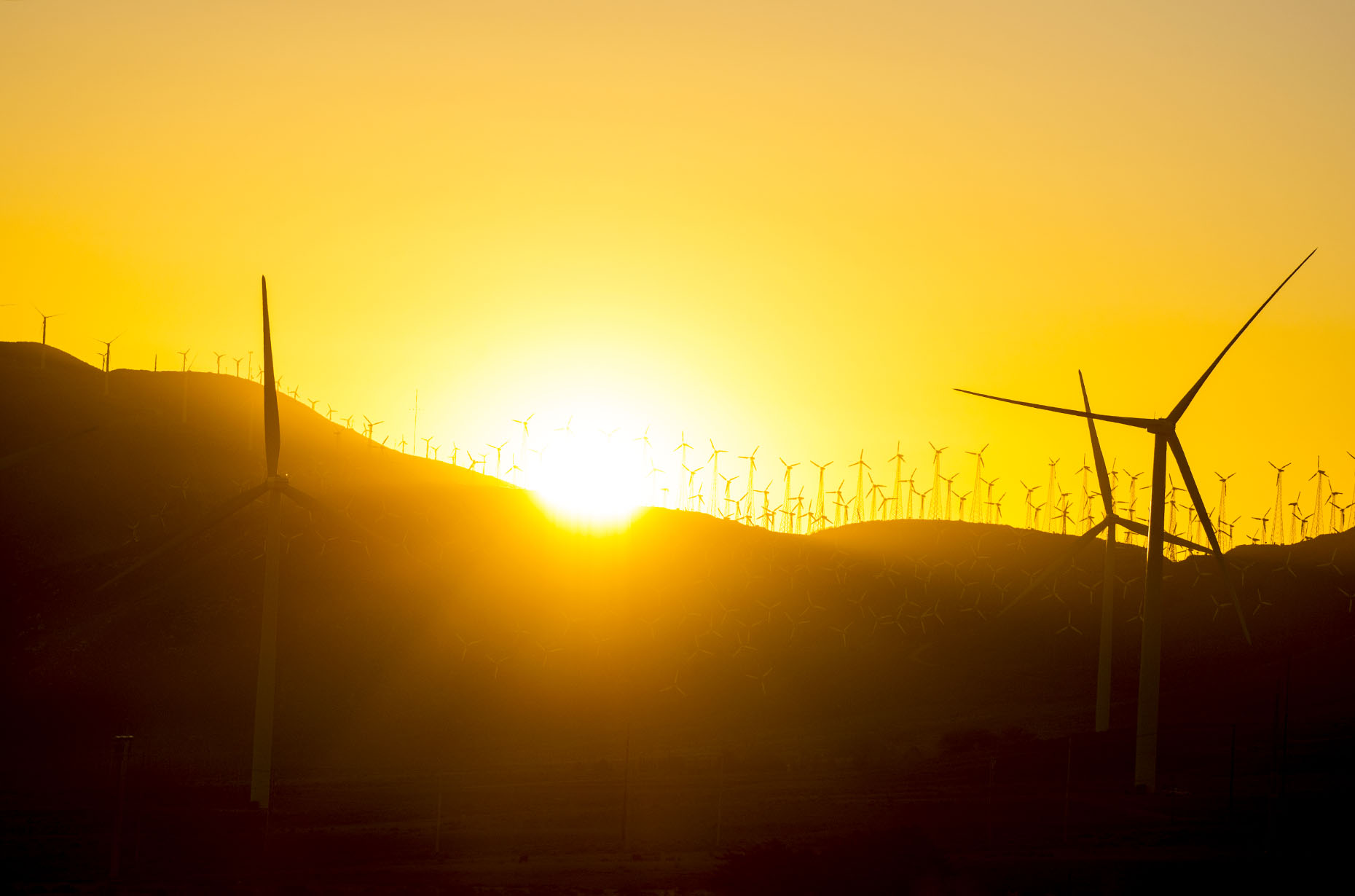 Wind Farm Sunrise California